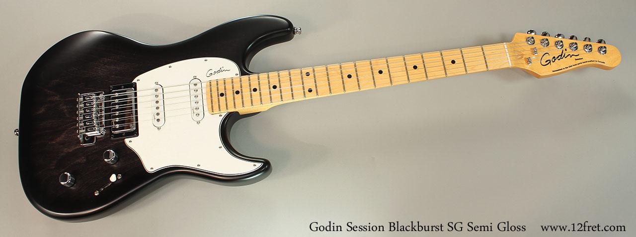 Godin Session Blackburst SG Full Rear View