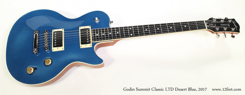 Godin Summit Classic LTD Desert Blue, 2017 Full Front View