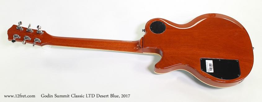 Godin Summit Classic LTD Desert Blue, 2017 Full Rear View