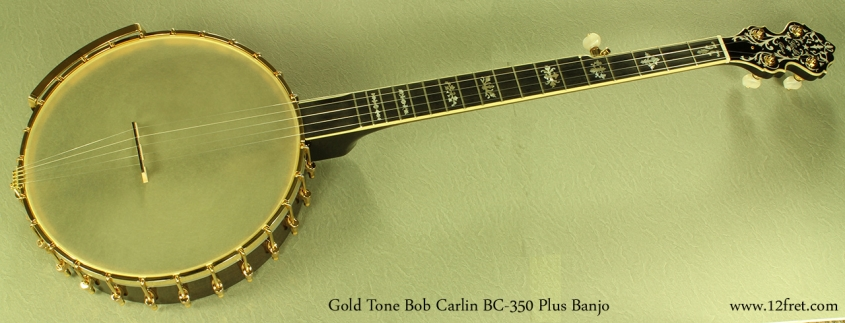 Gold Tone Bob Carlin BC-350 Plus full front