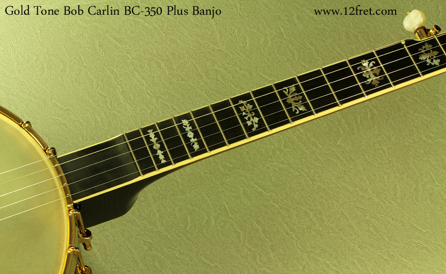 Gold Tone Bob Carlin BC-350 Plus inlay