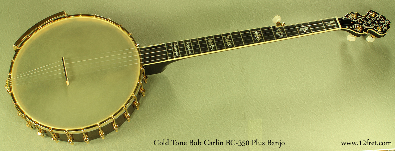 Gold Tone Bob Carlin BC-350 Plus full front