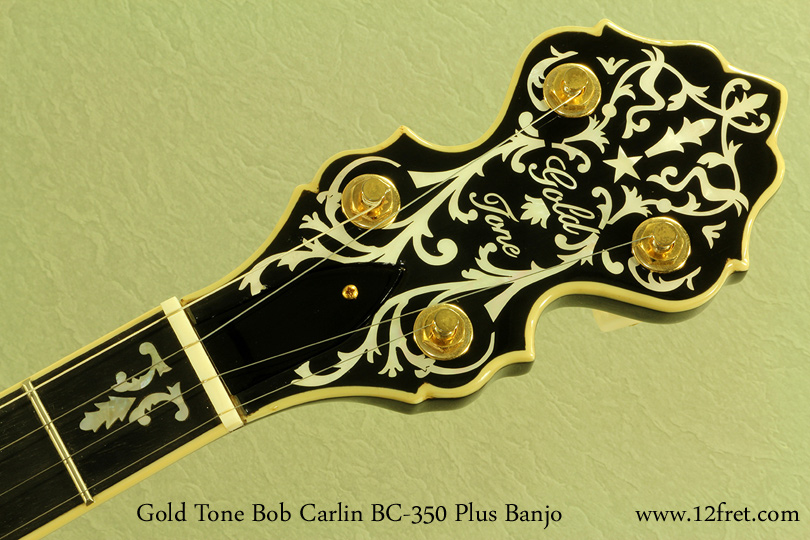 Gold Tone Bob Carlin BC-350 Plus head front
