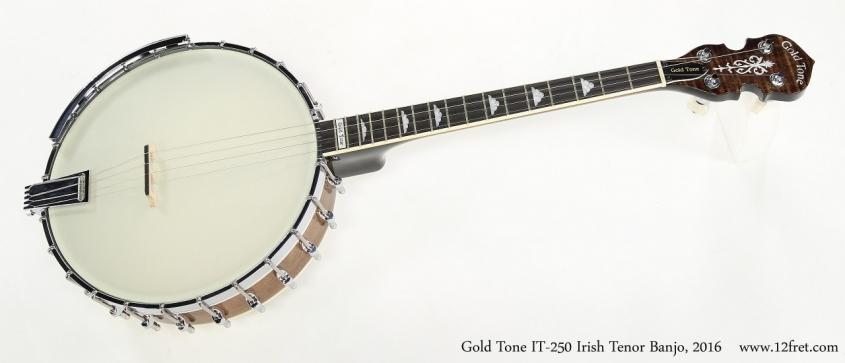 Gold Tone IT-250 Irish Tenor Banjo, 2016   Full Front View