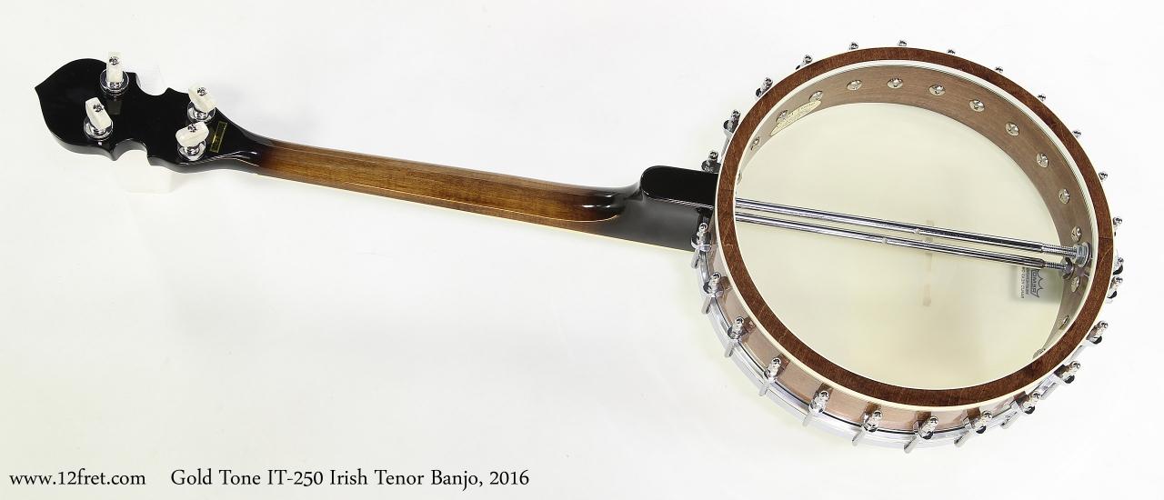 Gold Tone IT-250 Irish Tenor Banjo, 2016   Full Rear View