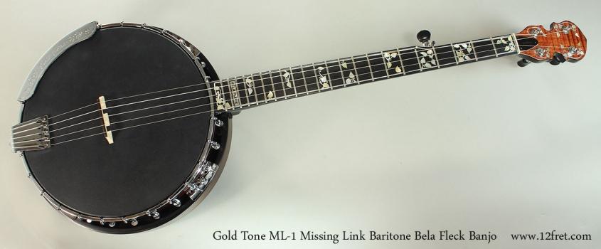 Gold Tone ML-1 Missing Link Baritone Bela Fleck Banjo Full Front View