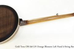 Gold Tone OB-250F LH Orange Blossom Left Hand 5-String Banjo, 2015   Full Rear View