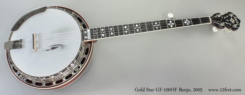 Gold Star GF-100HF Banjo, 2005 Full Front View