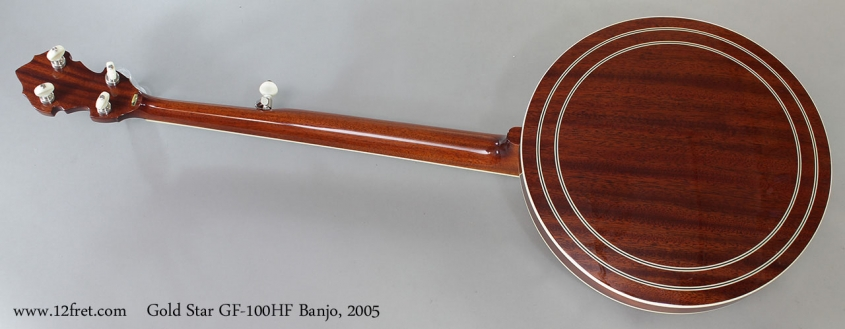 Gold Star GF-100HF Banjo, 2005 Full Rear View