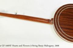 Gold Star GF-100HF Hearts and Flowers 5-String Banjo Mahogany, 2006   Full Rear View