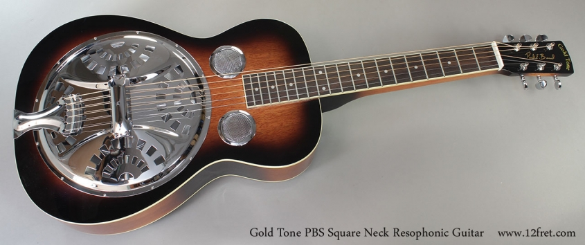 Gold Tone PBS Square Neck Resophonic Guitar Full Front View