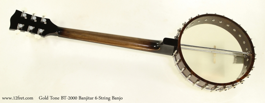 Gold Tone BT-2000 Banjitar 6-String Banjo Full Rear View