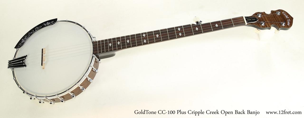 GoldTone CC-100 Plus Cripple Creek Open Back Banjo | www
