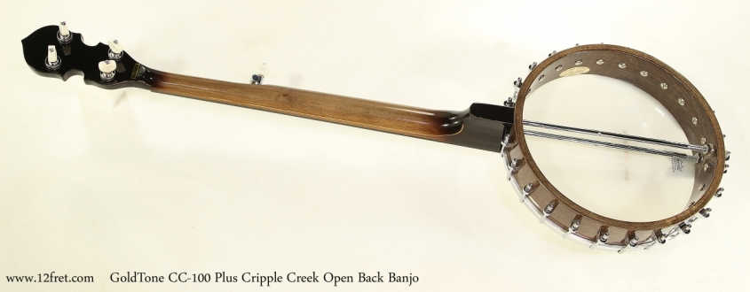 GoldTone CC-100 Plus Cripple Creek Open Back Banjo  Full Rear View