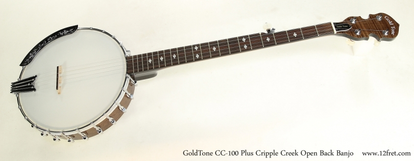 GoldTone CC-100 Plus Cripple Creek Open Back Banjo  Full Front View