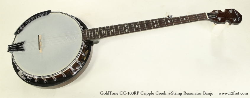 GoldTone CC-100RP Cripple Creek 5-String Resonator Banjo  Full Front View