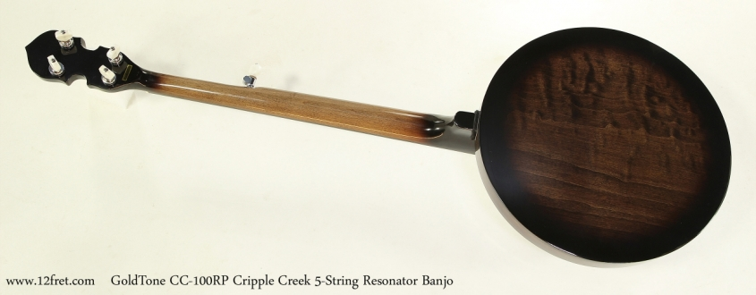GoldTone CC-100RP Cripple Creek 5-String Resonator Banjo  Full Rear View