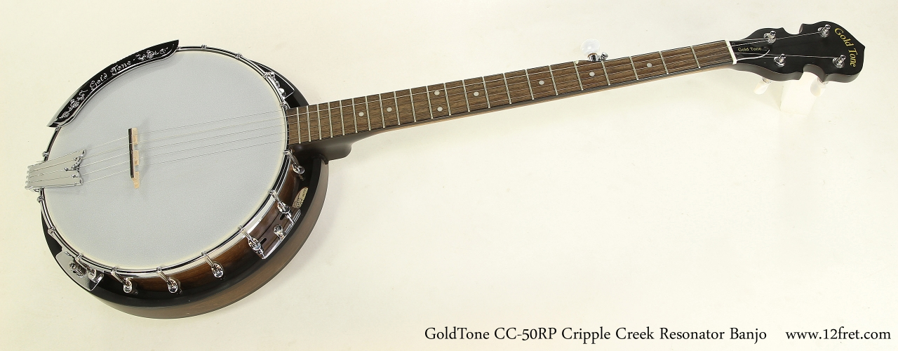 GoldTone CC-50RP Cripple Creek Resonator 5-String Banjo  Full Front View