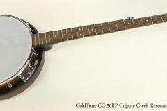 GoldTone CC-50RP Cripple Creek Resonator 5-String Banjo  Full Front View