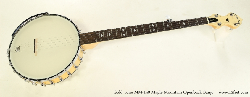 Gold Tone MM-150 Maple Mountain Openback 5-String Banjo Full Front View