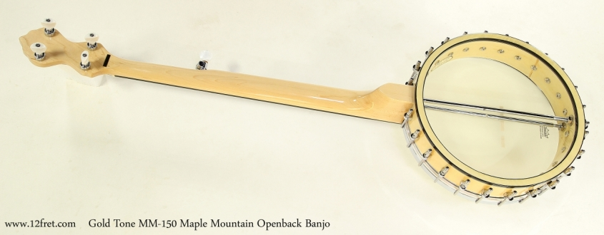 Gold Tone MM-150 Maple Mountain Openback 5-String Banjo Full Rear VIew