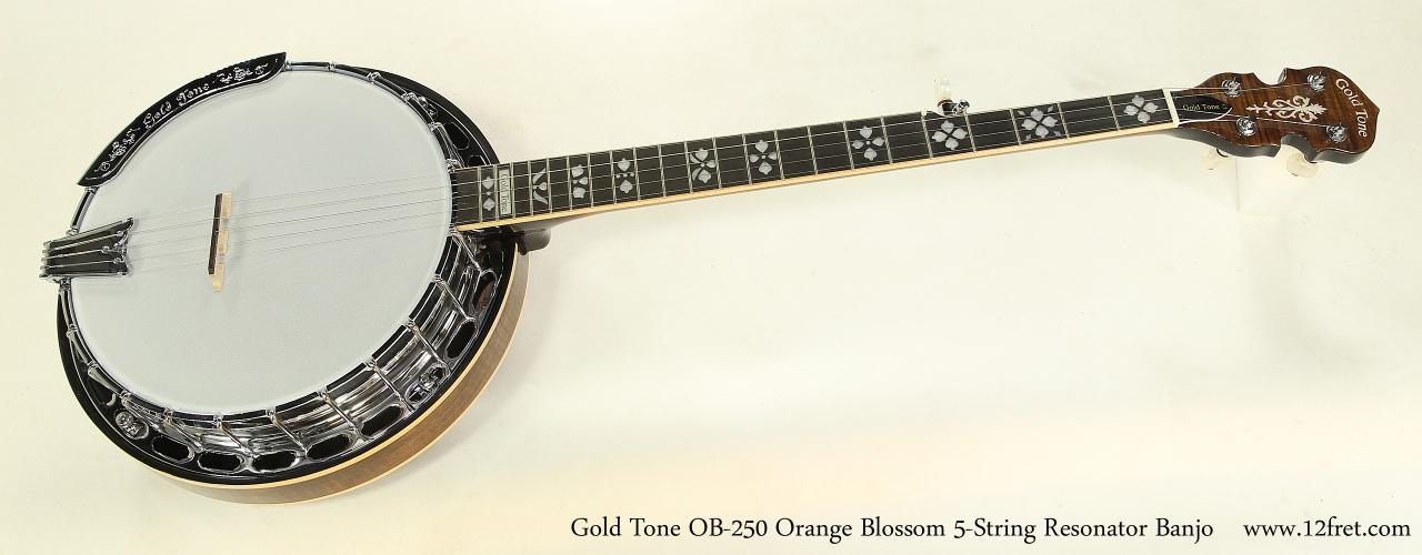 Gold Tone OB-250 Orange Blossom 5-String Resonator Banjo  Full Front View