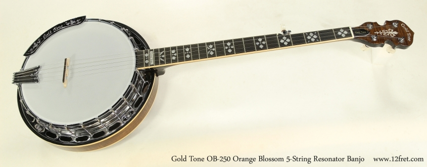 Gold Tone OB-250 Orange Blossom 5-String Resonator Banjo  Full Front View