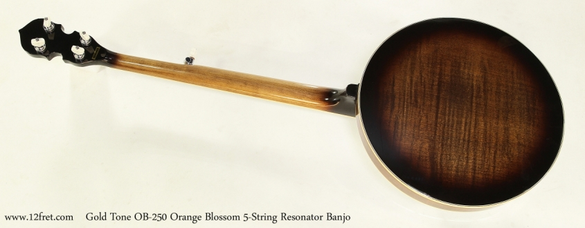Gold Tone OB-250 Orange Blossom 5-String Resonator Banjo  Full Rear View