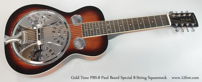 Gold Tone PBS-8 Paul Beard Special 8-String Squareneck Resophonic Guitar Full front VIew