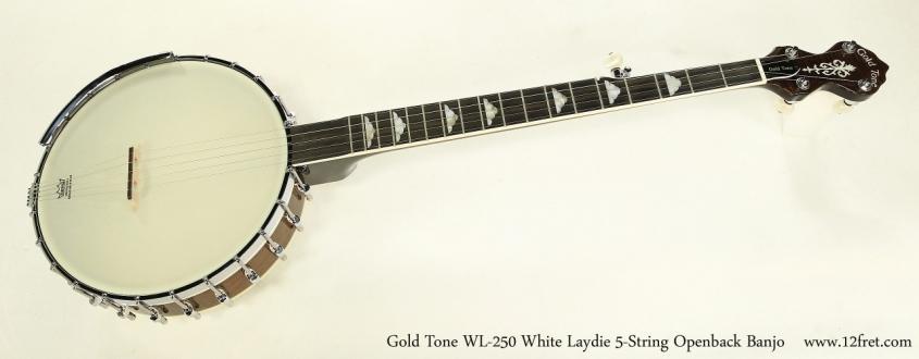 Gold Tone WL-250 White Laydie 5-String Openback Banjo    Full Front View