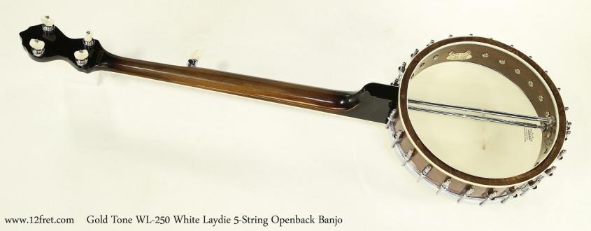Gold Tone WL-250 White Laydie 5-String Openback Banjo  Full Rear VIew