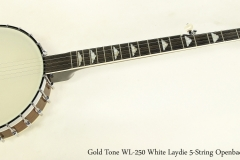Gold Tone WL-250 White Laydie 5-String Openback Banjo    Full Front View