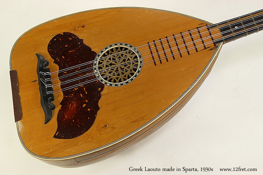 Greek Laouto made in Sparta, 1930s Top View