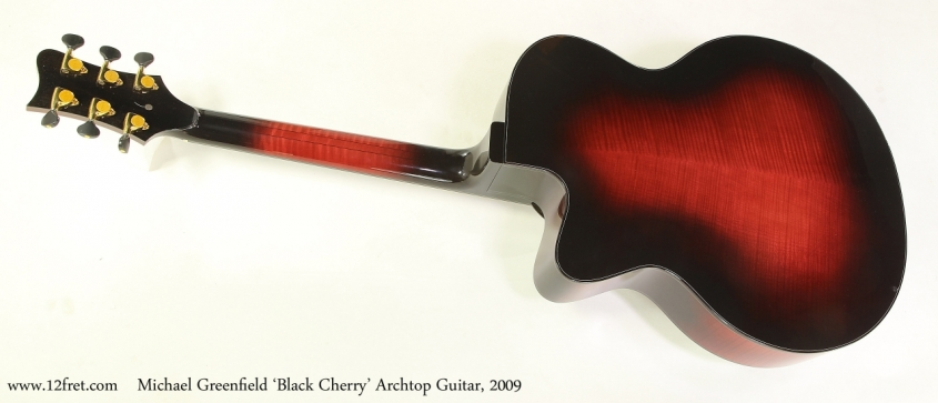 Michael Greenfield 'Black Cherry' Archtop Guitar, 2009  Full Rear VIew