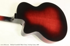 Michael Greenfield 'Black Cherry' Archtop Guitar, 2009  Rear View