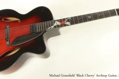 Michael Greenfield 'Black Cherry' Archtop Guitar, 2009  Full Front View