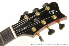 Michael Greenfield 'Black Cherry' Archtop Guitar, 2009  Head Front View