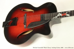 Michael Greenfield 'Black Cherry' Archtop Guitar, 2009  Top View