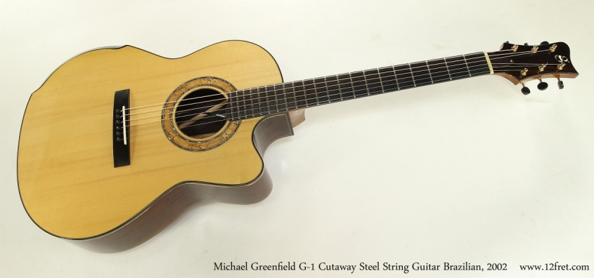 Michael Greenfield G-1 Cutaway Steel String Guitar Brazilian, 2002  Full Front View