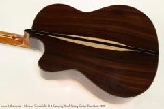 Michael Greenfield G-1 Cutaway Steel String Guitar Brazilian, 2002  Back View