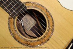 Michael Greenfield G-1 Cutaway Steel String Guitar Brazilian, 2002  Label and Rosette View