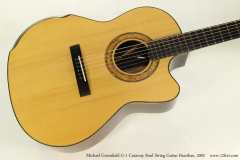 Michael Greenfield G-1 Cutaway Steel String Guitar Brazilian, 2002  Top View
