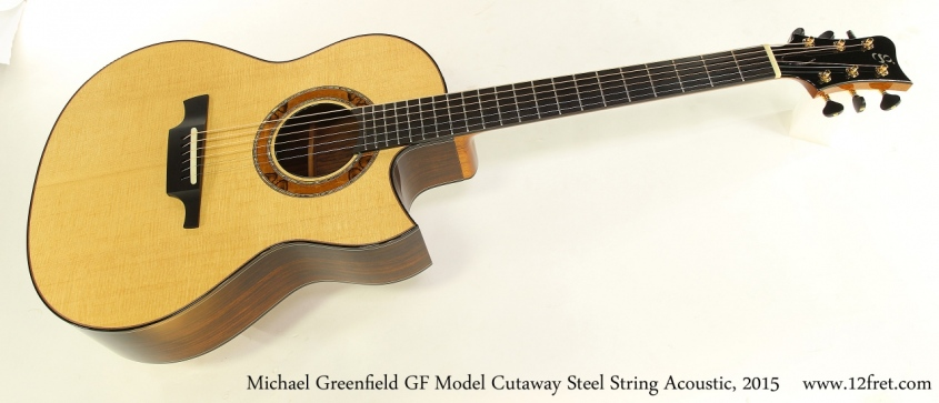 Michael Greenfield GF Model Cutaway Steel String Acoustic, 2015 Full Front View