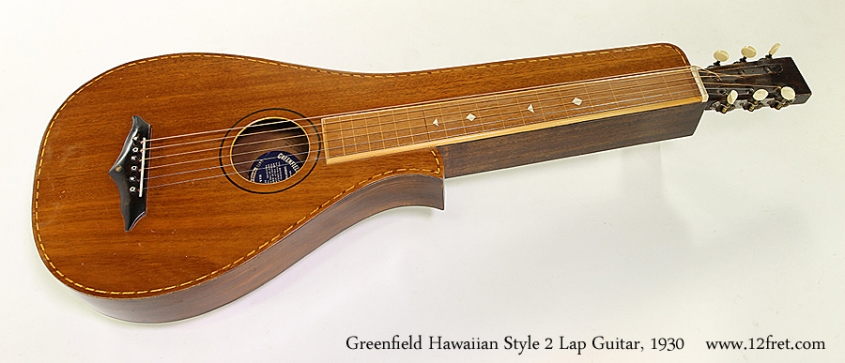 Greenfield Hawaiian Style 2 Lap Guitar, 1930  Full Front View