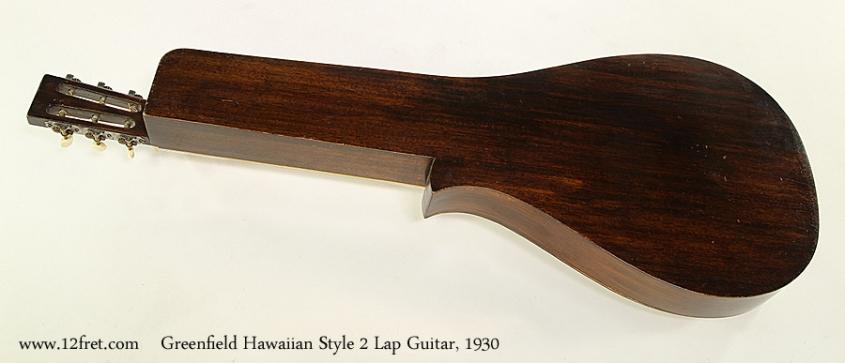 Greenfield Hawaiian Style 2 Lap Guitar, 1930  Full Rear View