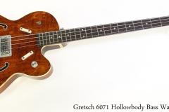 Gretsch 6071 Hollowbody Bass Walnut, 1968 Full Front View