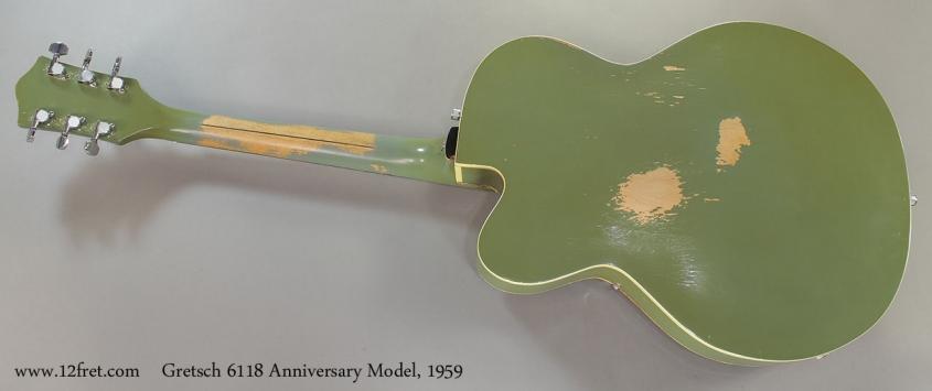 Gretsch 6118 Anniversary Model, 1959 Full Rear View