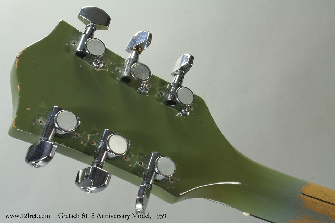 Gretsch 6118 Anniversary Model, 1959 Head Rear