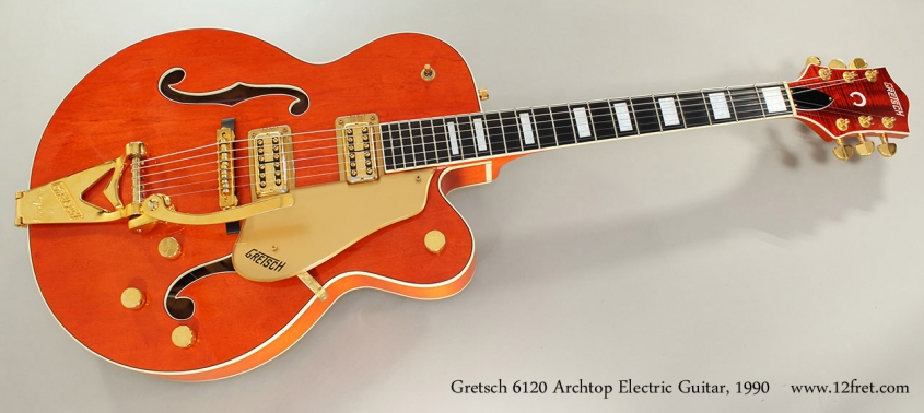 Gretsch 6120 Archtop Electric Guitar, 1990 Full Front View