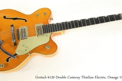 Gretsch 6120 Double Cutaway Thinline Electric, Orange 1962 Full Front VIew